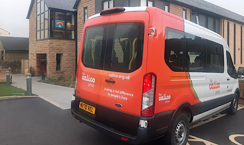 The Barley View mini bus in all its glory